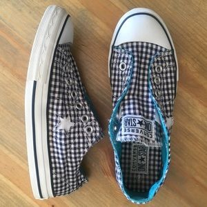 Converse One Star Navy Blue Gingham Ox sneaker